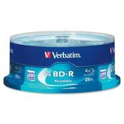 Verbatim – Cylindre de disques inscriptibles Blu-ray 97457 Bd-R DL, 6X, 25 Go, 25/paq.