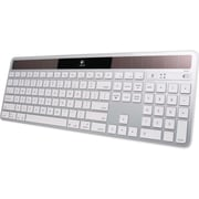 Logitech® Wireless USB Solar Keyboard, Silver (920-003472)