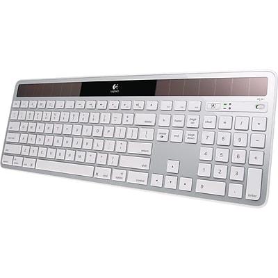Logitech® Wireless USB Solar Keyboard, Silver (920-003472)