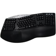 Adesso PCK-208B Wired Ergonomic Keyboard, Black/Gray