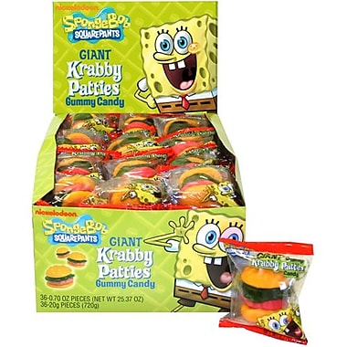SpongeBob Giant Gummy Krabby Patty Original, 36-Pieces