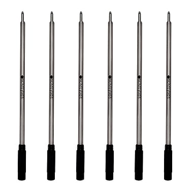 Monteverde® Medium Ballpoint Refill For Cross Ballpoint Pens, 6/Pack, Black