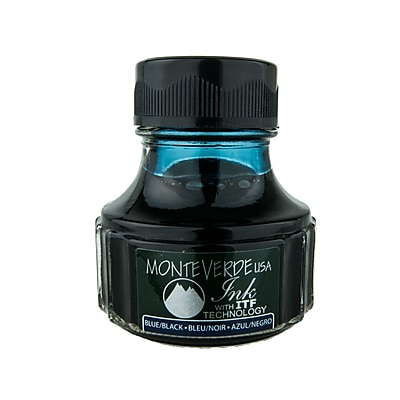 Monteverde Fountain Pen Ink Bottle Refills, 90ML, Blue/Black