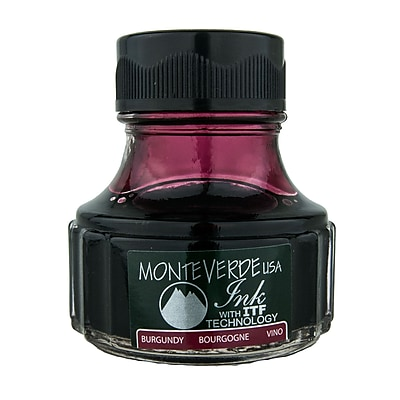 Monteverde Fountain Pen Ink Bottle Refills, 90ML, Burgundy
