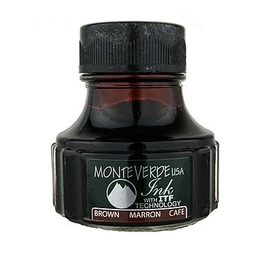 Monteverde Fountain Pen Ink Bottle Refills, 90ML, Brown