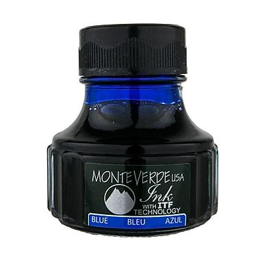 Monteverde Fountain Pen Ink Bottle Refills, 90ML, Blue