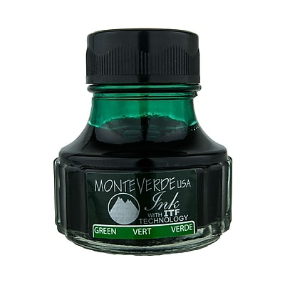 Monteverde Fountain Pen Ink Bottle Refills, 90ML, Green
