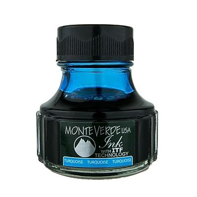 Monteverde Fountain Pen Ink Bottle Refills, 90ML, Turquoise