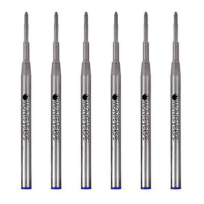 Monteverde® Broad Ballpoint Refill For Montblanc Ballpoint Pens, 6/Pack, Blue