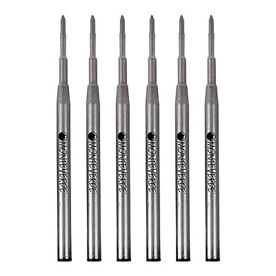 Monteverde® Fine Gel Ballpoint Refill For Montblanc Gel Ballpoint Pens, 6/Pack, Blue/Black