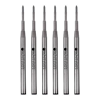 Monteverde® Broad Gel Ballpoint Refill For Montblanc Gel Ballpoint Pens, 6/Pack, Black