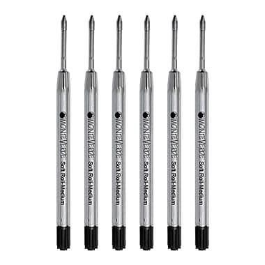 Monteverde® Medium Ballpoint Refill For Parker Ballpoint Pens, Black, 6/Pack (P133BK)