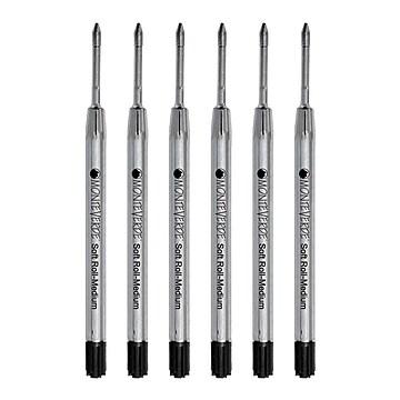 Monteverde® Medium Ballpoint Refill For Parker Ballpoint Pens, 6/Pack, Black