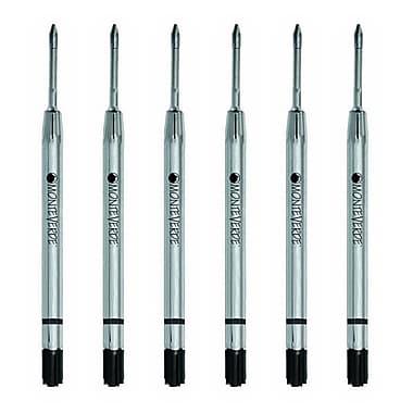 Monteverde® Fine Gel Ballpoint Refill For Parker Gel Ballpoint Pens, Black, 6/Pack (P423BK)