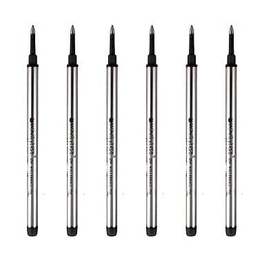 Monteverde® Fine Rollerball Refill For Dupont Rollerball Pens, 6/Pack, Black