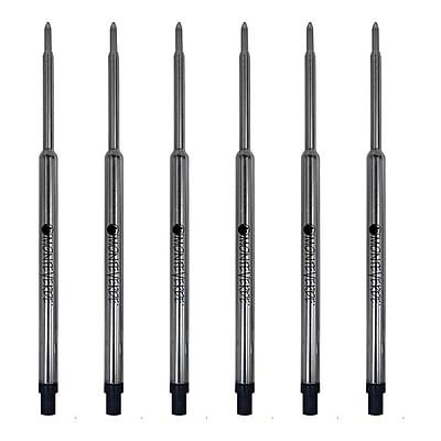 Monteverde® Medium Ballpoint Refill For Waterman Ballpoint Pens, 6/Pack, Blue/Black