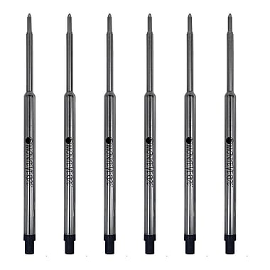 Monteverde® Medium Ballpoint Refill For Waterman Ballpoint Pens, Black, 6/Pack (W133BK)