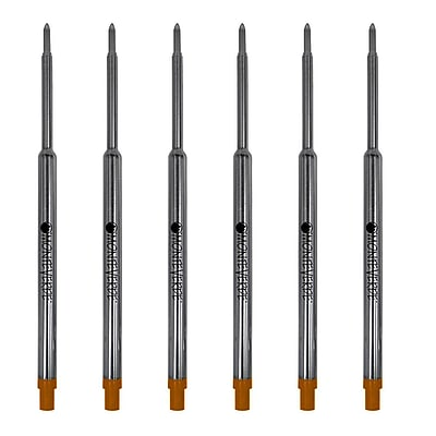Monteverde® Medium Ballpoint Refill For Waterman Ballpoint Pens, 6/Pack, Brown