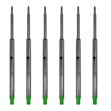 Monteverde® Medium Ballpoint Refill For Waterman Ballpoint Pens, 6/Pack, Green