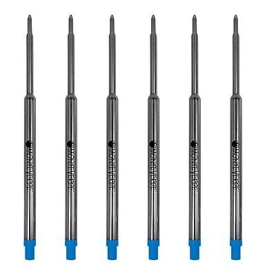 Monteverde® Medium Ballpoint Refill For Waterman Ballpoint Pens, 6/Pack, Turquoise