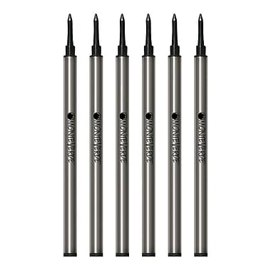 Monteverde® Medium Rollerball Refill For Waterman Rollerball Pens, 6/Pack, Black (W233BK)