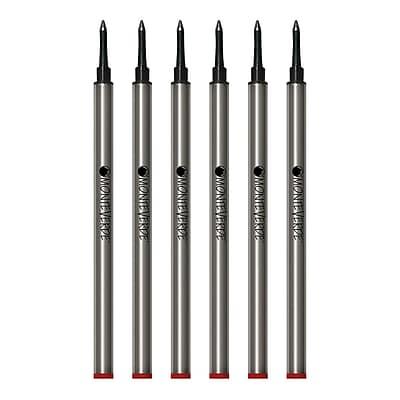 Monteverde® Medium Rollerball Refill For Waterman Rollerball Pens, 6/Pack, Red