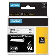 "Dymo 1""W Thermal Permanent Polyester Label, White (1734523)"