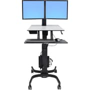 "Ergotron, WorkFit-C Up To 32.5 lbs., 22"" LCD Monitor Dual Sit-Stand Workstation Computer Stand"