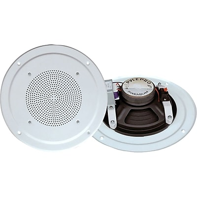 Pyle® PDICS54 White 5'' Full Range In Ceiling Speaker System With Transformer