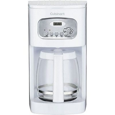 Cuisinart 12 Cup Programmable Coffeemaker, White 2857050
