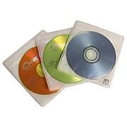 Case Logic® Fabric Pro Sleeve Double Sided CD Sleeve, White, 60/Pack