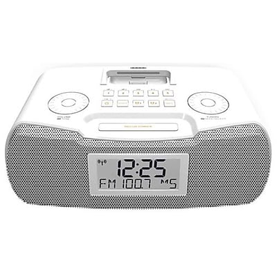 Sangean RCR-10 Stereo Desktop Atomic Clock Radio, White