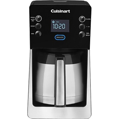 Cuisinart Perfec Temp 12 Cup Programmable Thermal Coffeemaker, Silver/Black IM1KV7795