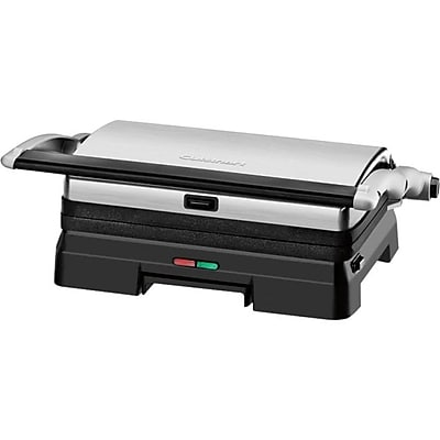 Conair Cuisinart Griddler Stainless Steel Grill and Panini Press IM1QW2359
