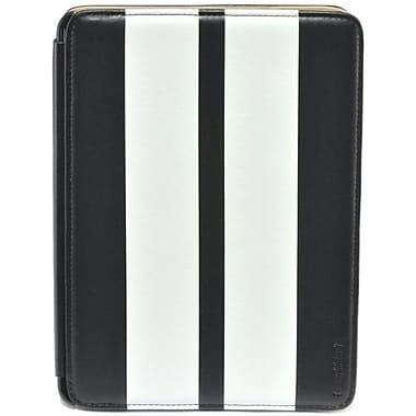 Gear Head FS3300BLK Leather Port Folio Case for Apple iPad Mini, White/Black
