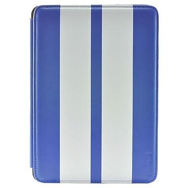 Gear Head FS3300BLU Leather Port Folio Case for Apple iPad Mini, White/Blue