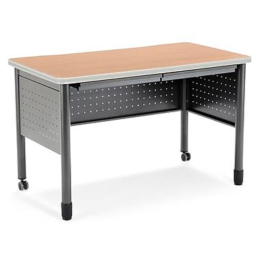 OFM – Table de formation/bureau avec tiroirs, série Mesa, érable (811588011759)