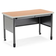 OFM Mesa Standard Training Table/Desk with Drawers, Maple (811588011759)