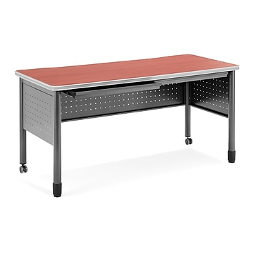 OFM Mesa Standard Training Table/Desk with Drawers, Cherry (66140-CHY)