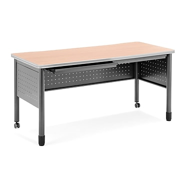 OFM Mesa Standard Training Table/Desk with Drawers, Maple (66140-MPL)