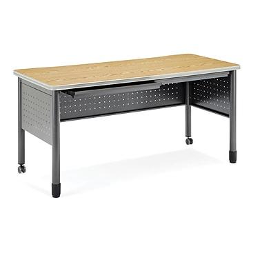 OFM – Table de formation/bureau avec tiroirs, série Mesa, chêne (845123021811)
