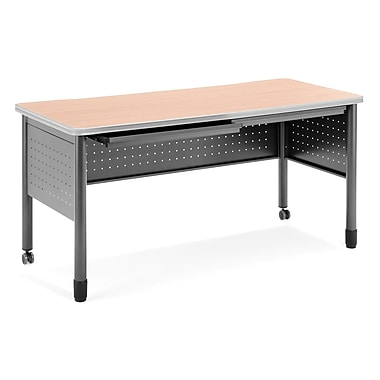 OFM Mesa Standard Training Table/Desk with Drawers, Maple (66150-MPL)