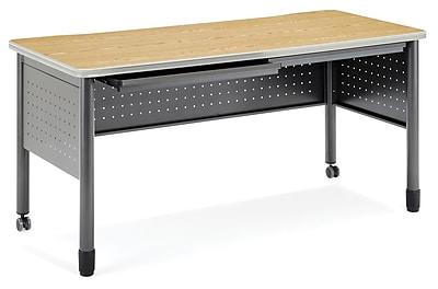 OFM Mesa Standard Training Table/Desk with Drawers, Oak (66150-OAK)