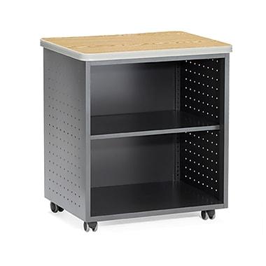 OFM – Table utilitaire mobile de 27,5 po en mélanine, 2 tiroirs, chêne (845123021835)