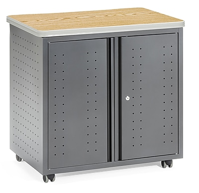 OFM 2 Drawer Mobile/Pedestal File, Oak,Letter/Legal, 27.5''W (845123021842)
