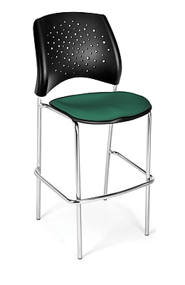 OFM Star Series Fabric Cafe Height Chair, Shamrock Green