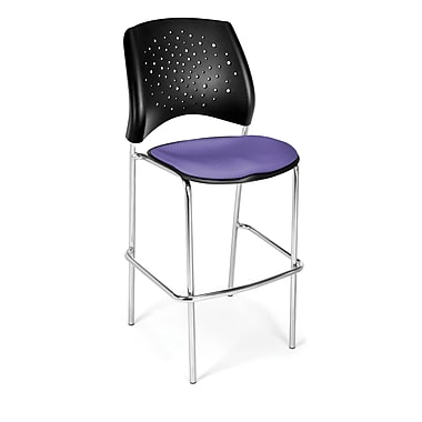 OFM Star Series Fabric Cafe Height Chair, Lavender