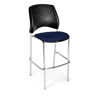 OFM – Chaise à café en tissu de la série Star, bleu marine (845123049341)
