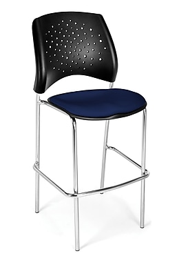 OFM Star Series Fabric Cafe Height Chair, Navy