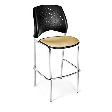 OFM Star Series Fabric Cafe Height Chair, Golden Flax